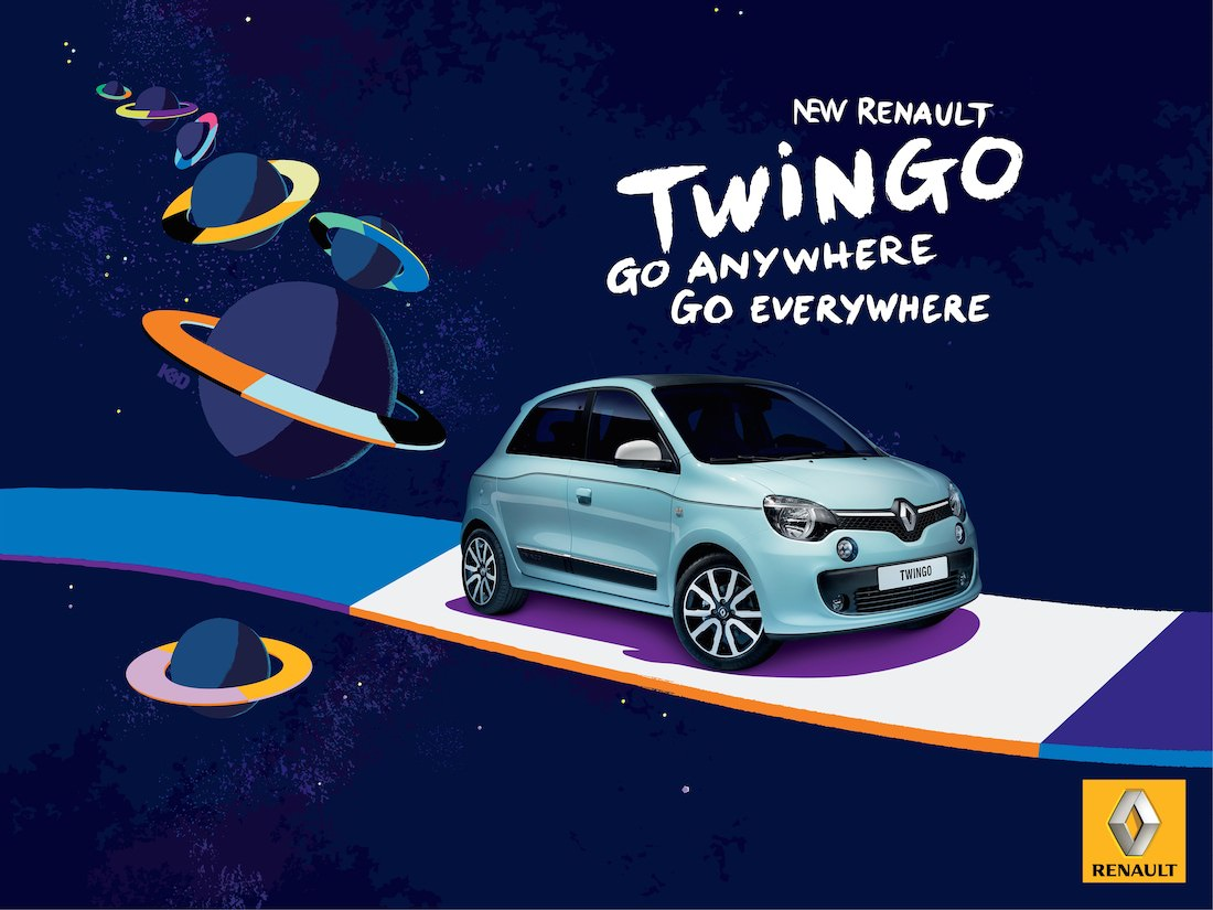 d couvrez la nouvelle campagne de publicite renault twingo. Black Bedroom Furniture Sets. Home Design Ideas